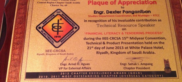 Electrical Engineers in Saudi Arabia Listen to Financial Literacy on their Annual Convention