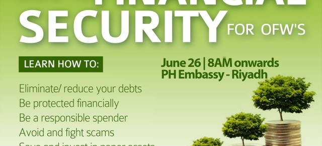 Financial Literacy Goes to Riyadh Philippine Embassy With Angat Pilipinas Coalition [Updated]