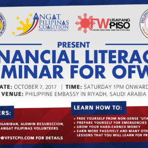 Free Financial Literacy Seminar in Riyadh Philippine Embassy
